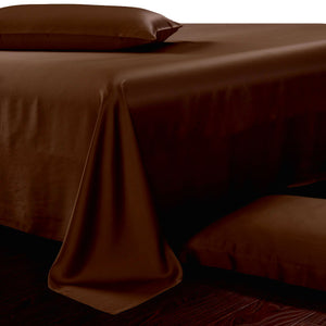brown silk sheets, 100 % pure mulberry silk sheet set 19 mm