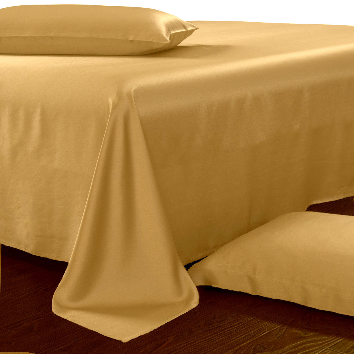 gold silk sheets for queen king and cal king