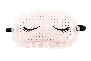 100 silk eye mask with silk filling mulberry silk eyemask Charming Lashes cute fun flirty silk eye mask