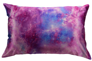 Pink Galaxy Silk Pillowcase for hair and skin