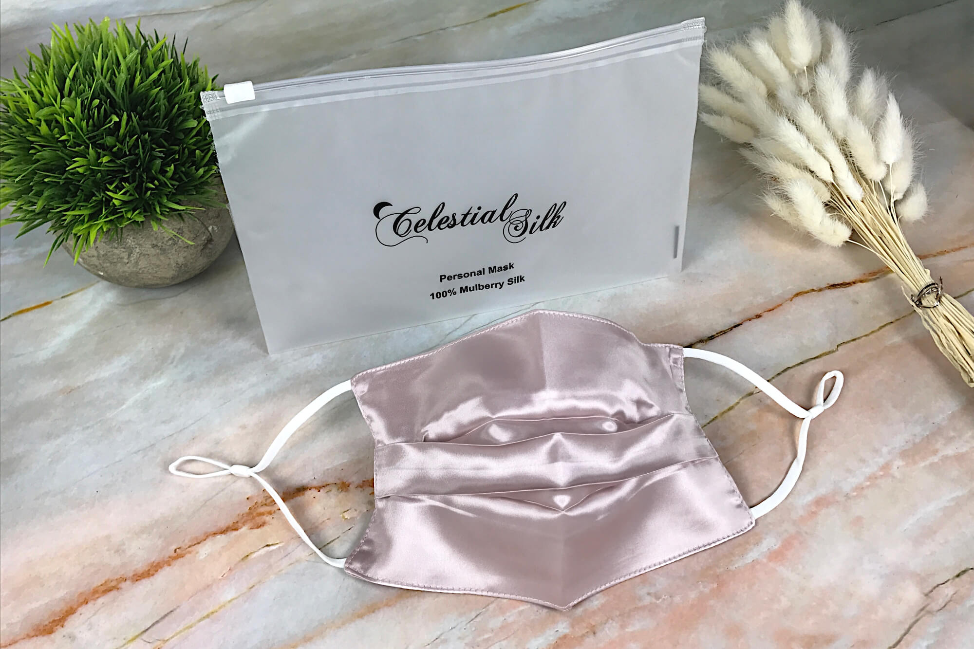 pink silk face mask pure silk face mask pink with carrying case