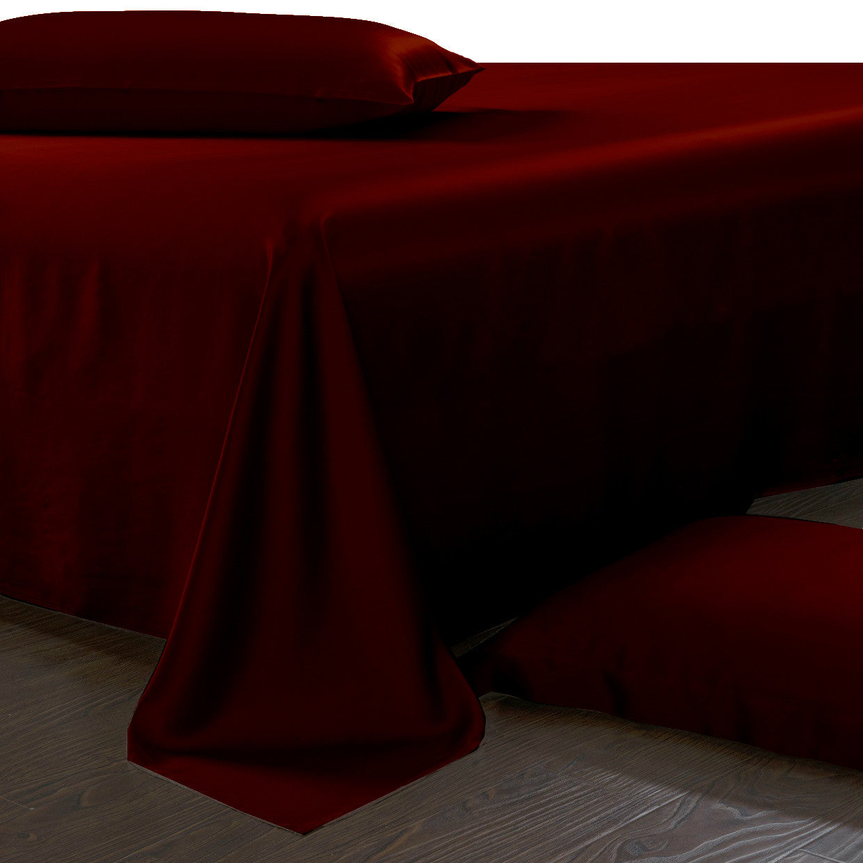 Red Silk Sheet Set Queen And King Size