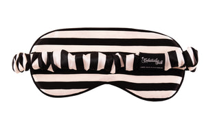 black and white striped silk eye mask mulberry silk filled eye mask
