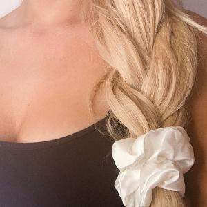 ivory silk scrunchy for hair mulberry silk scrunchy for hair