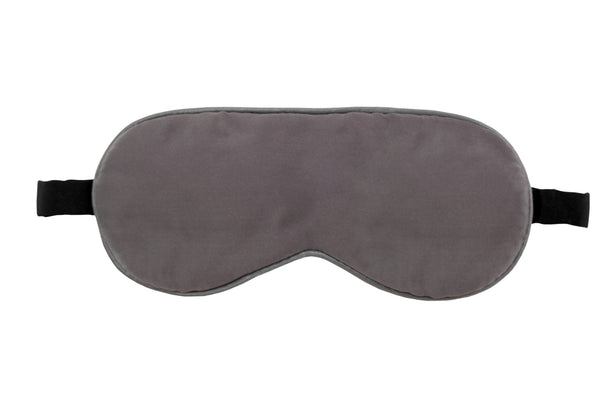 MULBERRY SILK EYE MASK - CHARCOAL GRAY SIDE SLEEPER