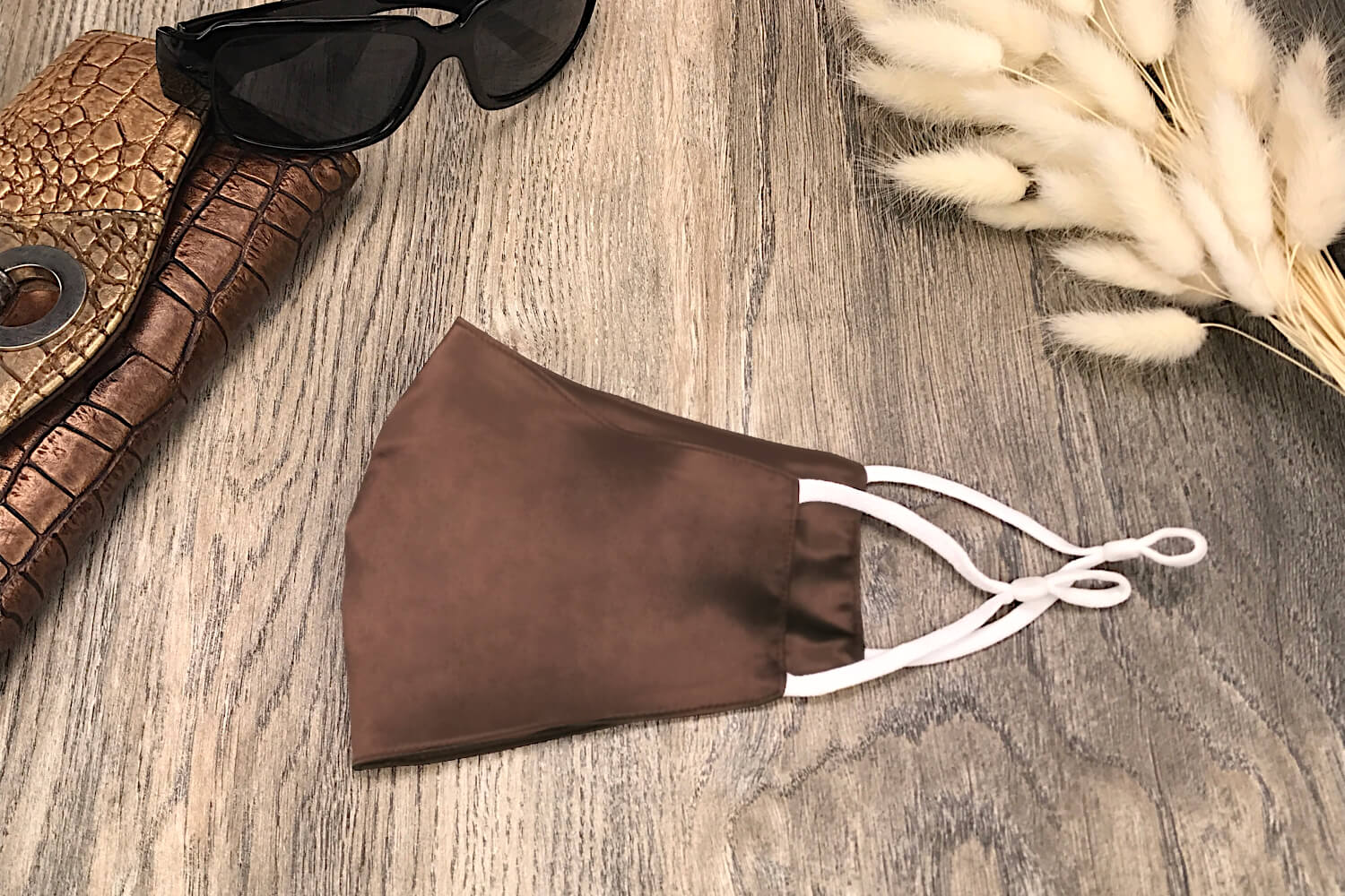 Silk Face Covering for Personal Use - Chocolate