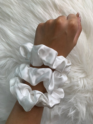 ivory silk scrunchies for curly hair silk scrunchies for women ivory silk scrunchies set undyed silk scrunchy