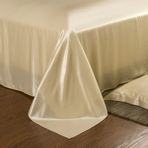 Silk Sheets - 22 Momme Pure Mulberry Silk Sheet Set