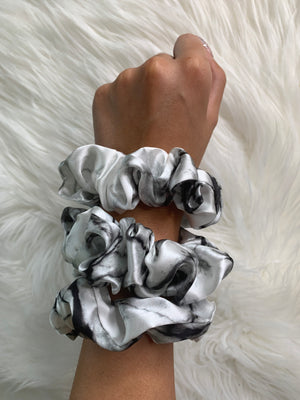 white marble silk scrunchies for curly hair silk scrunchies for women white marble silk scrunchies set white marble silk scrunchy
