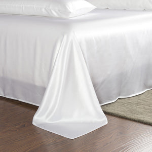 white 25 mm silk sheet set