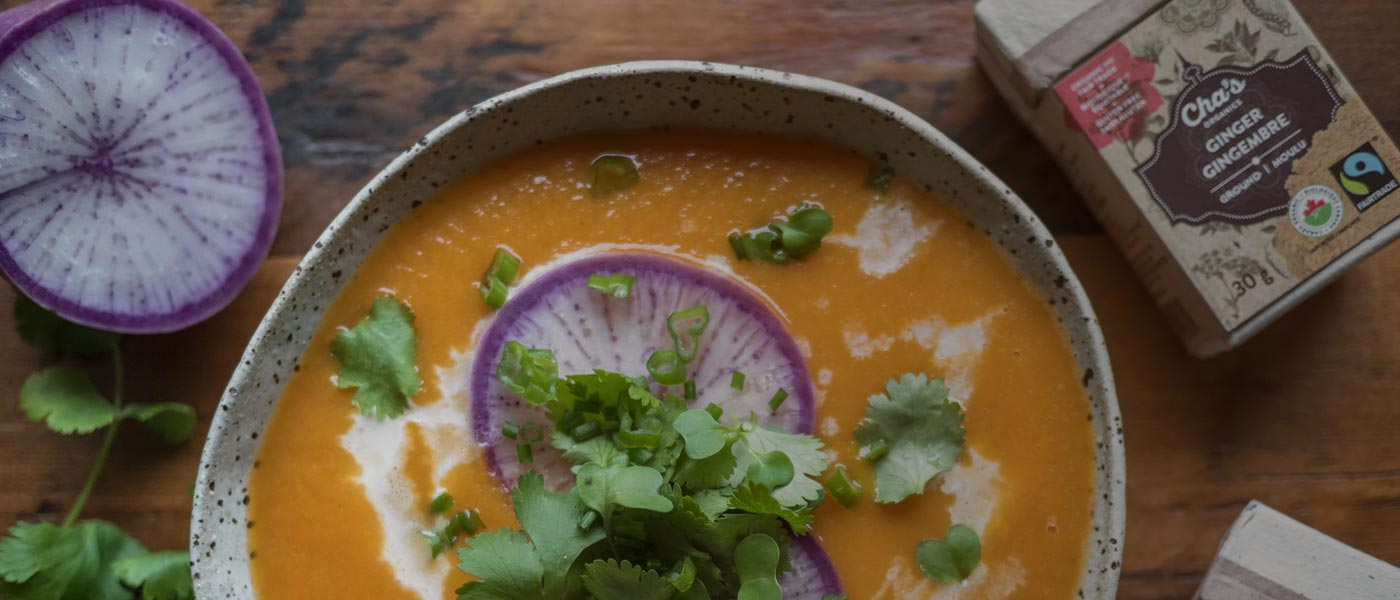 Carrot Soup With Ginger And Lemongrass