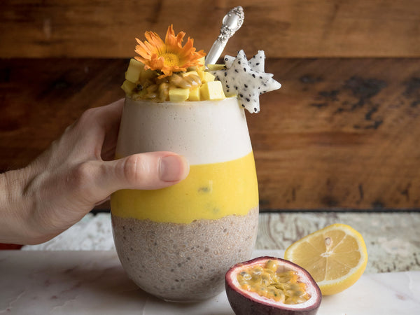 Vanilla Mango Passion Fruit Chia Parfait