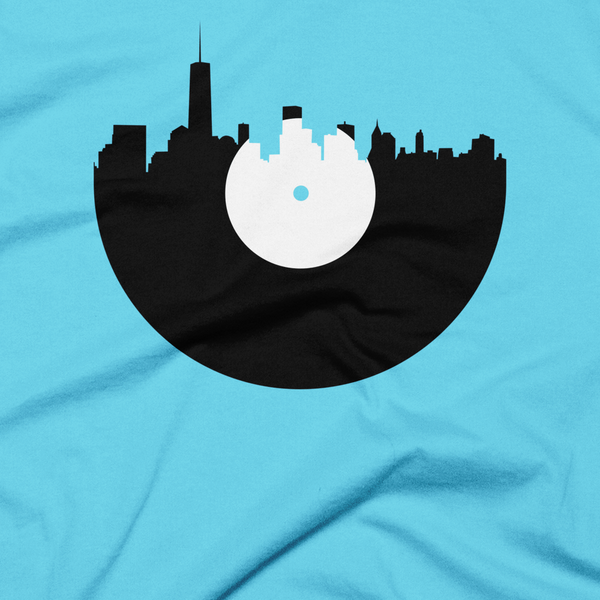 New York City - City Skyline Music Record Design T-Shirt