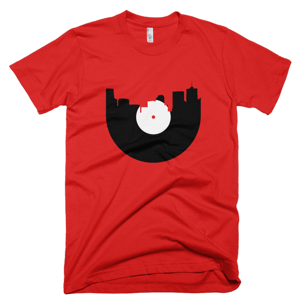 Denver - City Skyline Music Record Design T-Shirt