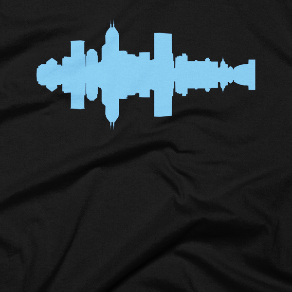 Indianapolis - City Skyline Audio Wave T-Shirt