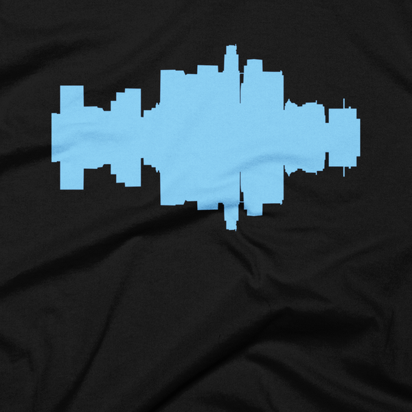 Los Angeles - City Skyline Audio Wave T-Shirt