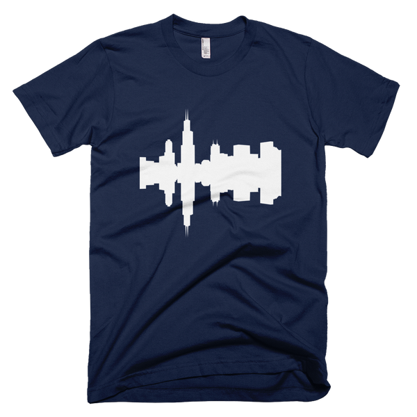 Chicago - City Skyline Audio Wave T-Shirt