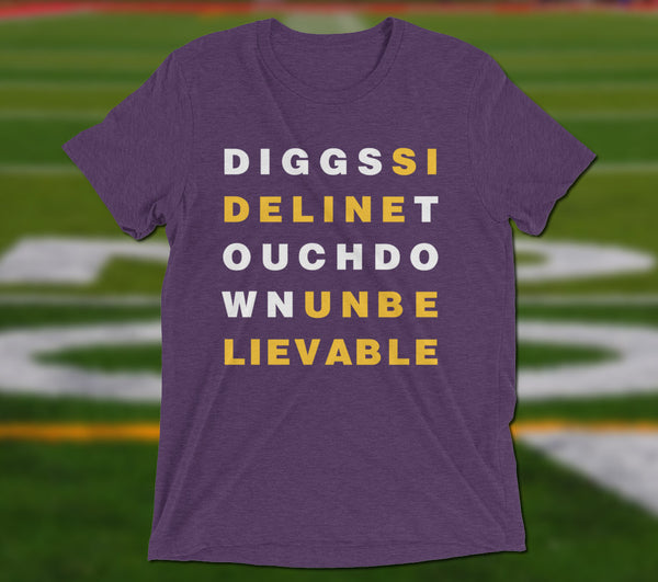 Diggs Sideline Touchdown Unbelievable - Minimal T-Shirt