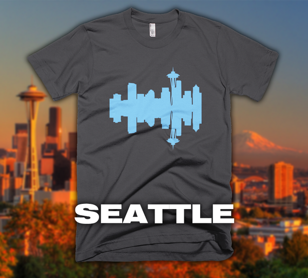 Seattle - City Skyline Audio Wave T-Shirt
