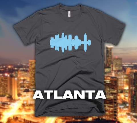 Atlanta - City Skyline Audio Wave T-Shirt