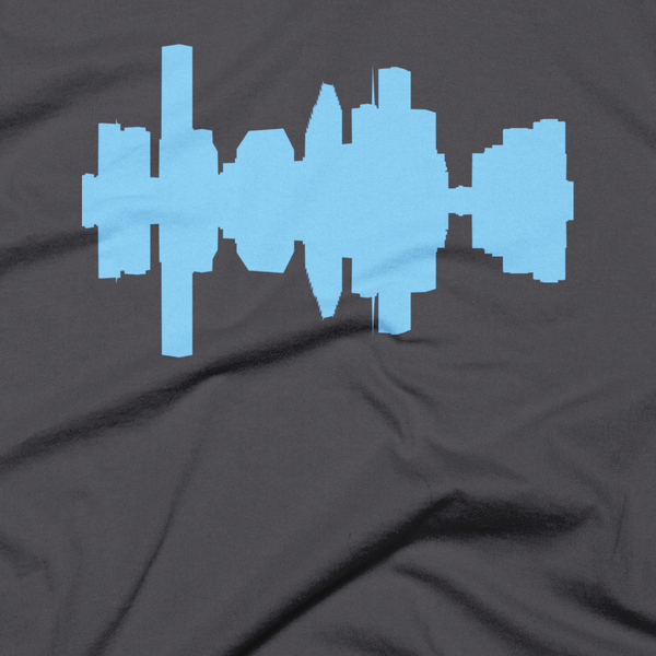 Houston - City Skyline Audio Wave T-Shirt