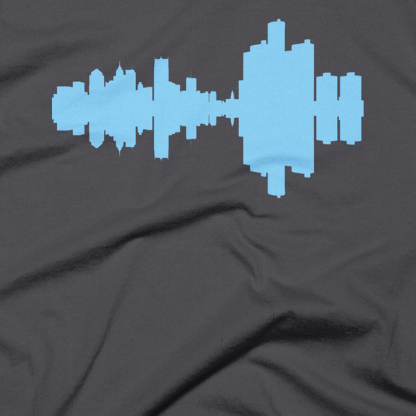 Detroit - City Skyline Audio Wave T-Shirt