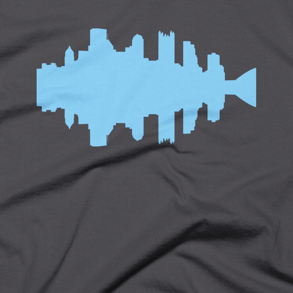 Pittsburgh - City Skyline Audio Wave T-Shirt