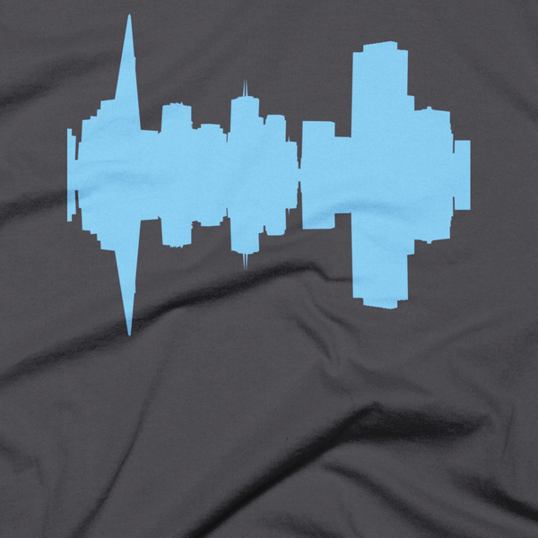 San Francisco - City Skyline Audio Wave T-Shirt