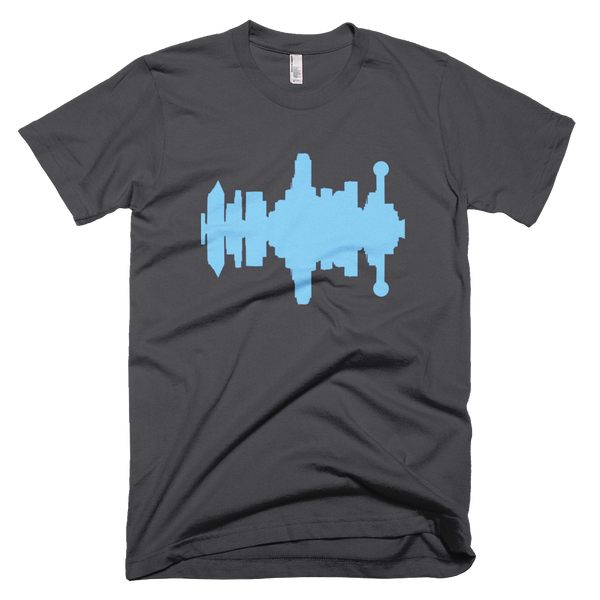 Dallas - City Skyline Audio Wave T-Shirt