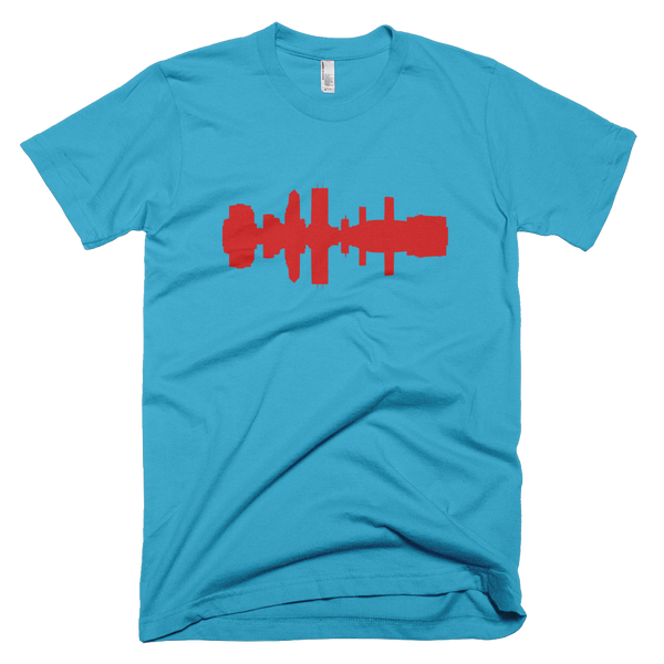 Jacksonville - City Skyline Audio Wave T-Shirt