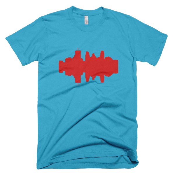 Minneapolis - City Skyline Audio Wave T-Shirt