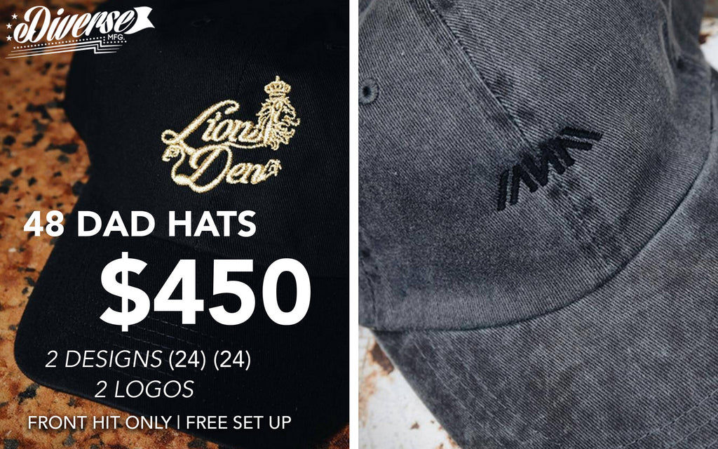 48 Dad Hats For $450
