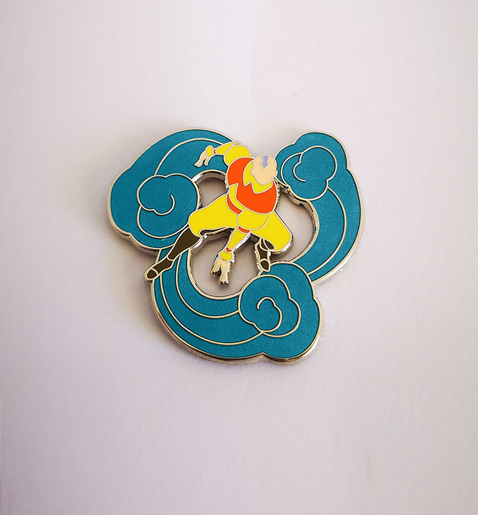 Aang Pin (Metallic Blue Version)