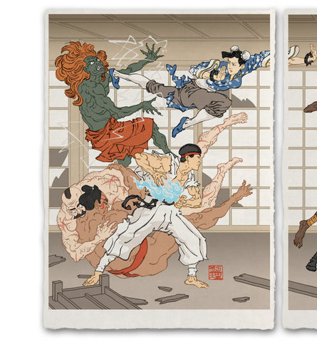 'Battle in the Bath House' ジクレー版画
