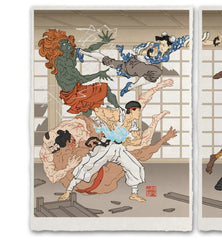 'Battle in the Bath House' Giclée Print