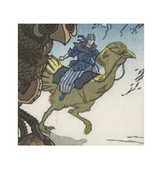 'Flight of Fantasy' Woodblock Print