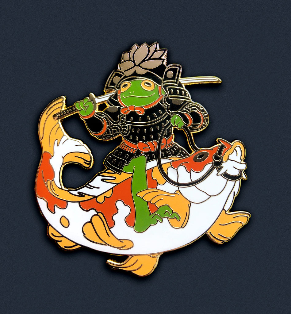 Frog Koi-Rider Pin (Limited Edition Gold Version)
