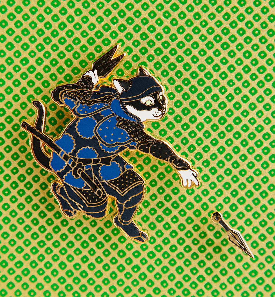 New Ninja Cat Pin - Open Edition