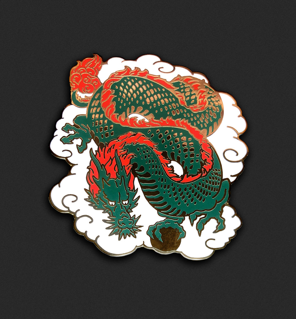 Lucky Dragon Pin - Green