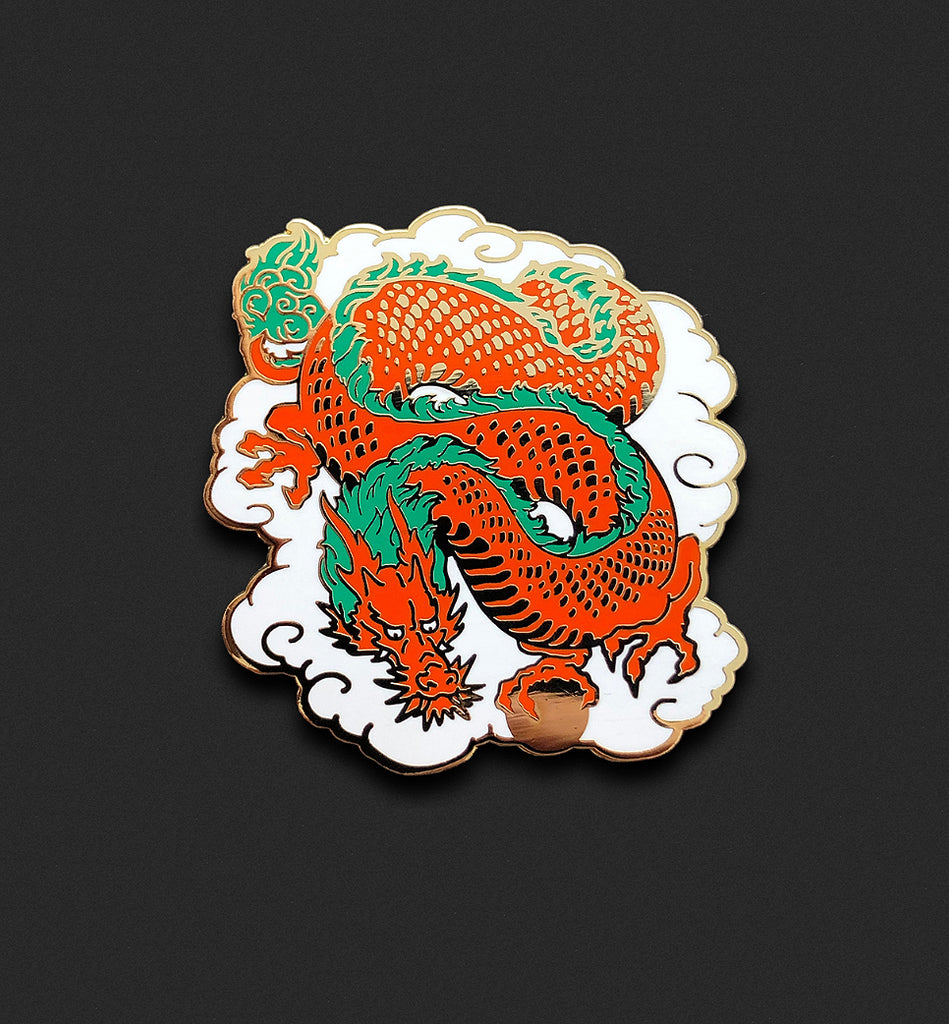 Lucky Dragon Pin - Red