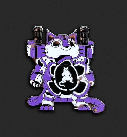Mecha Cat Pin - Ultra Violet