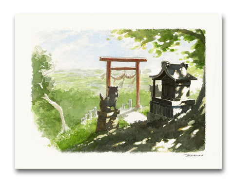 'Mountain Shrine' Giclee Print