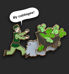 'My Cabbages!' Pin