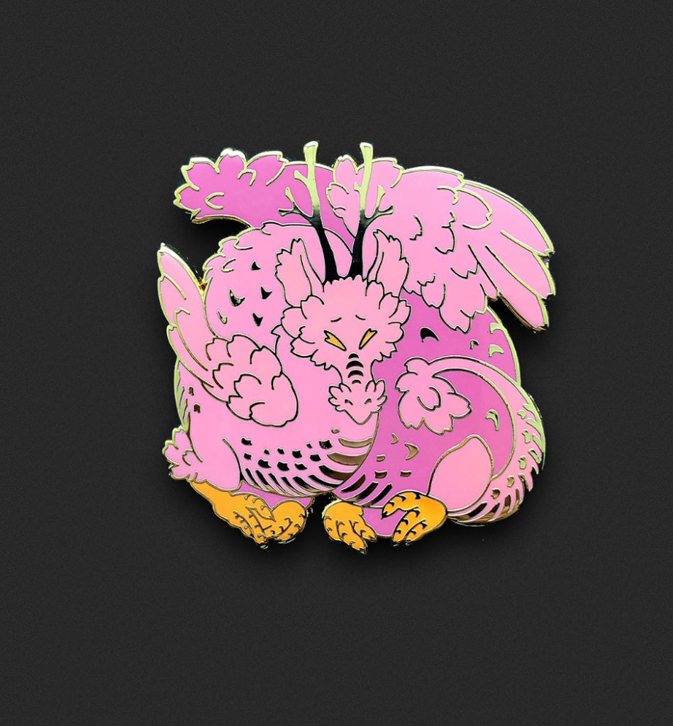 Sakura Dragon Pin
