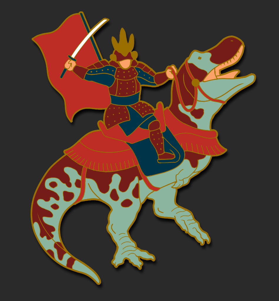 Samurai Riding T-Rex