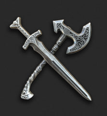 Sword and Axe Pin
