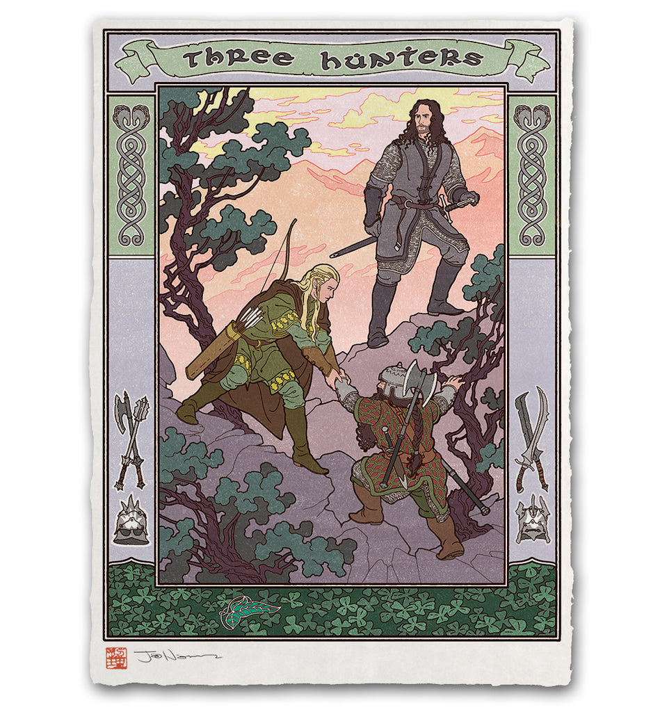 'Three Hunters' Giclée Print