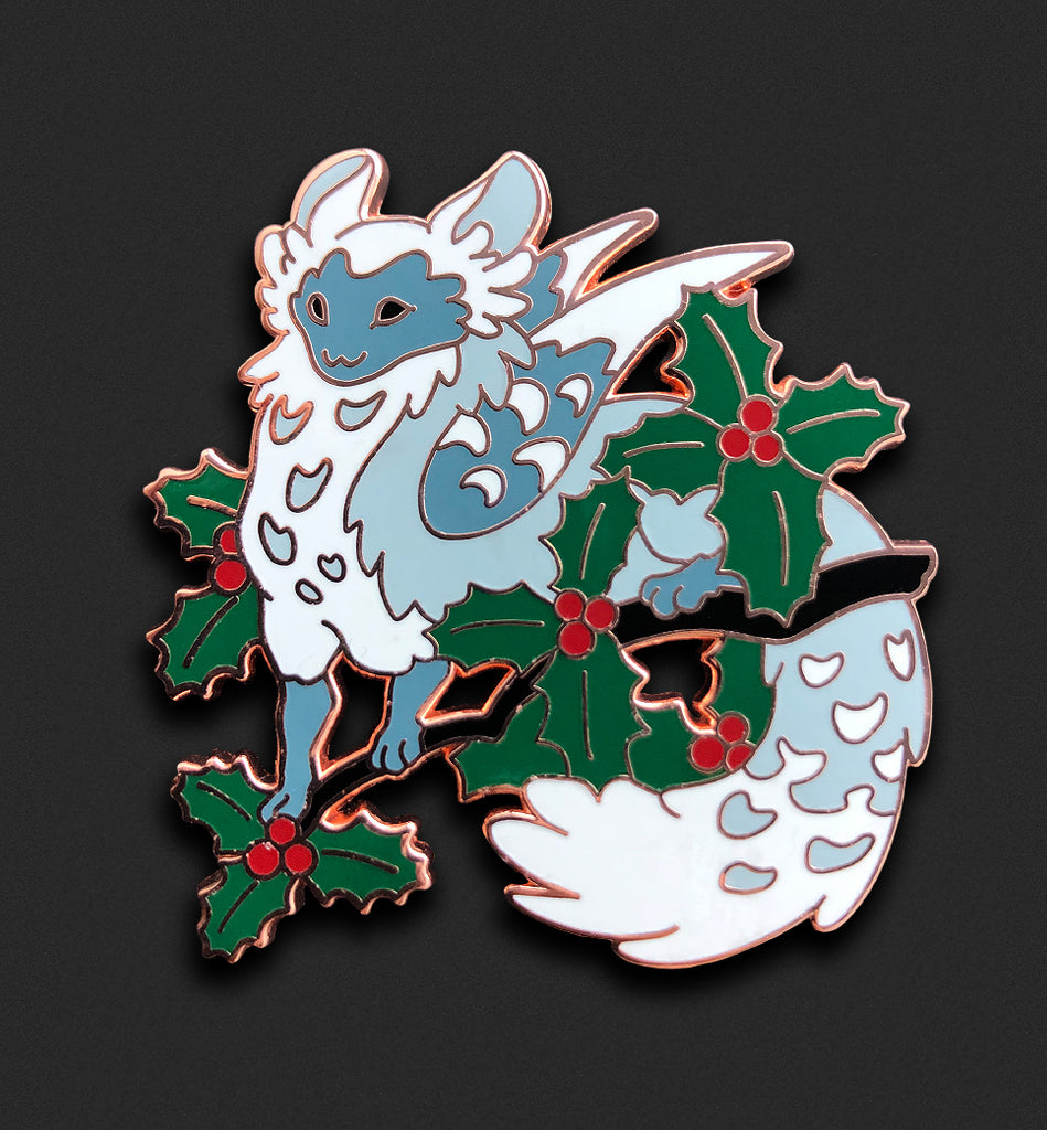 Holly Dragon Pin