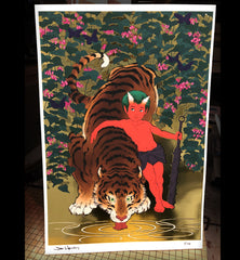 'Tiger and Oni' Limited Edition Print