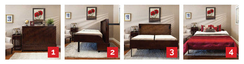 How to open a mobile guest bed